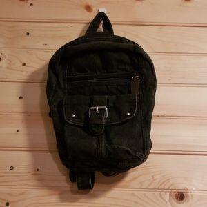 Joe Boxer black denim backpack